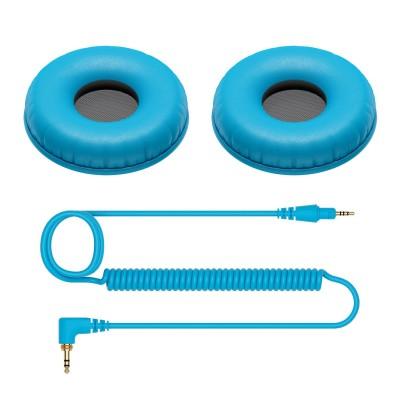 Set Bureti si Cablu pentru Pioneer HDJ C1 (blue)