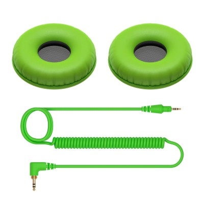 Set Bureti si Cablu pentru Pioneer HDJ C1 (green)