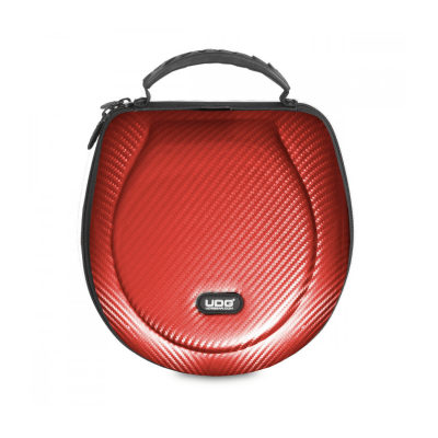 UDG Creator Headphone Case Large Red PU Carbon