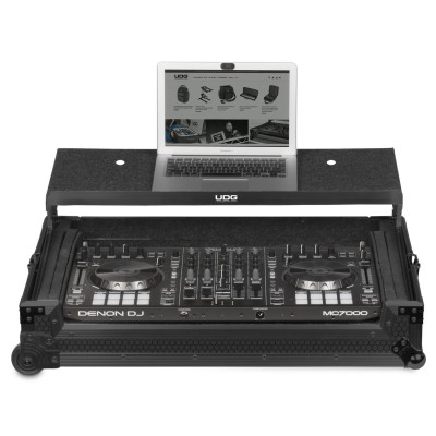UDG Ultimate FlightCase MultiFormat XXL Black Plus (Laptop Shelf, Trolley & Wheels)