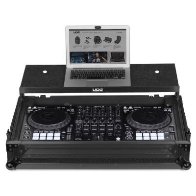 UDG Ultimate FlightCase Pioneer DDJ-1000 Black Plus (Laptop Shelf+Wheels)